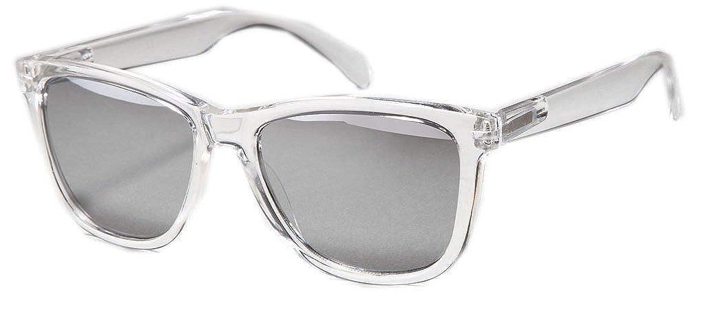Sense42 Retro Sonnenbrille verspiegelte Gläser mit flexiblen Federscharnier Bü