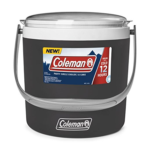 Styrofoam Ice Buckets For Parties (Coleman 9-Quart Party Circle Cooler, Black)