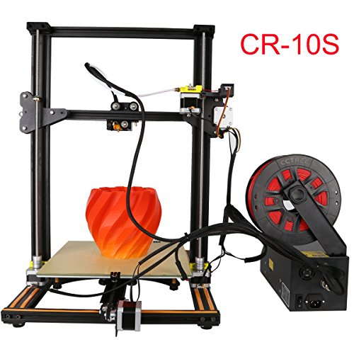 [New Arrival] Creality CR-10S Updated with dual Z axies leading screw rod and filament alarming function Large printing size 11.8'' x 11.8'' x 15.8'' DIY Self-assembly Desktop 3D Printer Kits by Creality 3D
