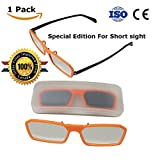 Clip On Solar Eclipse Glasses -- Perfect for Wearing Over Prescription Glasses -- CE and ISO Certified -- Limited Edition (1 Pack - Clip On)