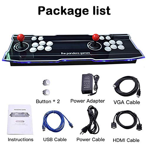 XFUNY Home Arcade Video Game Console 2350 in 1 Pandora Treasure 3D 1080P Arcade Machine with Arcade Joysticks for TV / Laptop / PC / PS4 by XFUNY (Image #5)