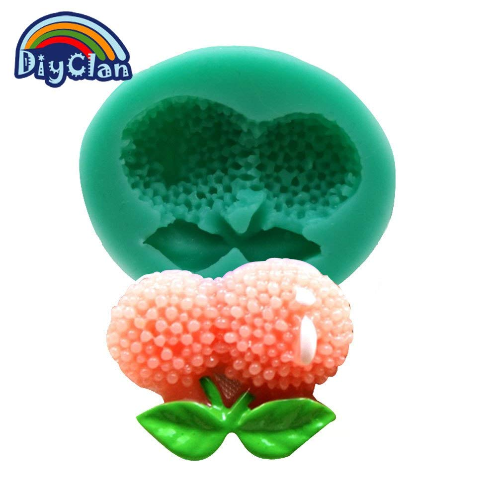 1 piece New DIY silicone molds for cake decorating Litchi fruit fondant mold chocolate ice cube tray mould baking cake tools F0288LZ35