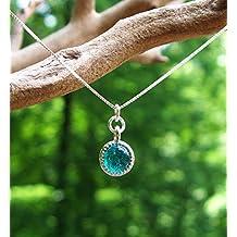 Recycled Vintage Mason Jar Glass Color Dot Necklace
