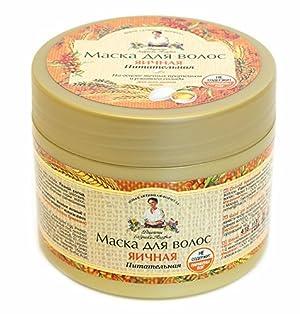 Hair Mask Egg Nutrition Based on Egg Protein and Rye Malt, Paraben Free 300ml by Recipes Grandma Agafia