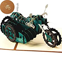Motorcycle 3D Pop Up Greeting Cards Anniversary Baby Birthday Easter Halloween Children's Mother's Father's Day Home New Year Thanksgiving Christmas Valentine Wedding Invitation