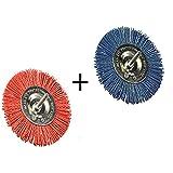 2 Stück Schleifbürsten Nylon fein und grob Durchmesser 100 mm