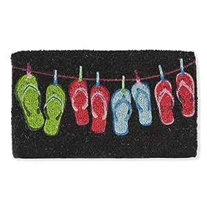 Abbott Collection Flip Flop Doormat, Black