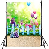 Always_Sexy New 3x5FT Colorful Baby Kids Photo Backdrop Bear Balloon Thin Photography Background Studio Prop for Children