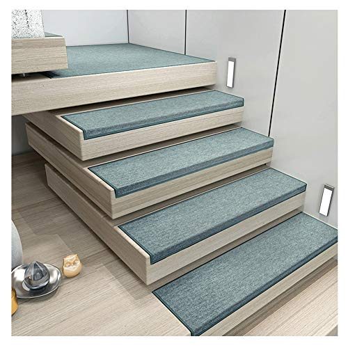 (Stair Treads Step Mats Runner Rugs Carpet Pads Rectangle Solid Color Self Adhesive Short Fluff Non-Slip 4 Colors 5 Sizes (Color : C- 30X100CM, Size : 1pcs))