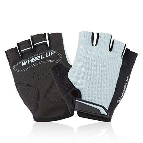 Wincom Dishman Motorcycle Gloves Universial Motorcycle Riding Half Fingers Fingerless Gloves Size M - (Color: Gray)