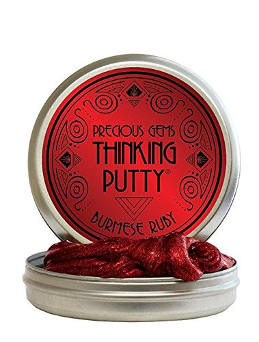 UPC 019962198250, Crazy Aaron's Thinking Putty, 1.6 Ounce, Precious Gems Burmese Ruby