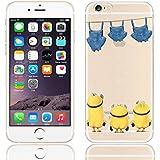 Coque iPhone 6s / Minions couvercle de gel de bande dessinée pour Apple iPhone 6s 6 / protecteur d'écran et écran chiffon par iCHOOSE / lavage