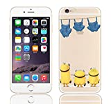 iPhone 5/5s Minions Cartoon Silicone Phone Case / Gel Cover for Apple iPhone 5s 5 SE / Screen Protector & Cloth / iCHOOSE / Washing