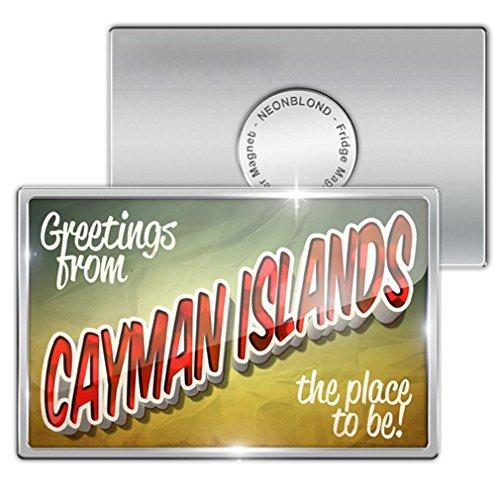 Island Postcard (Fridge Magnet Greetings from Cayman Islands, Vintage Postcard -)
