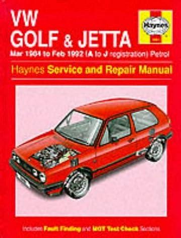 volkswagen golf and jetta 84 to 92 service and repair manual rh amazon com Polaris Repair Manual Auto Repair Manual