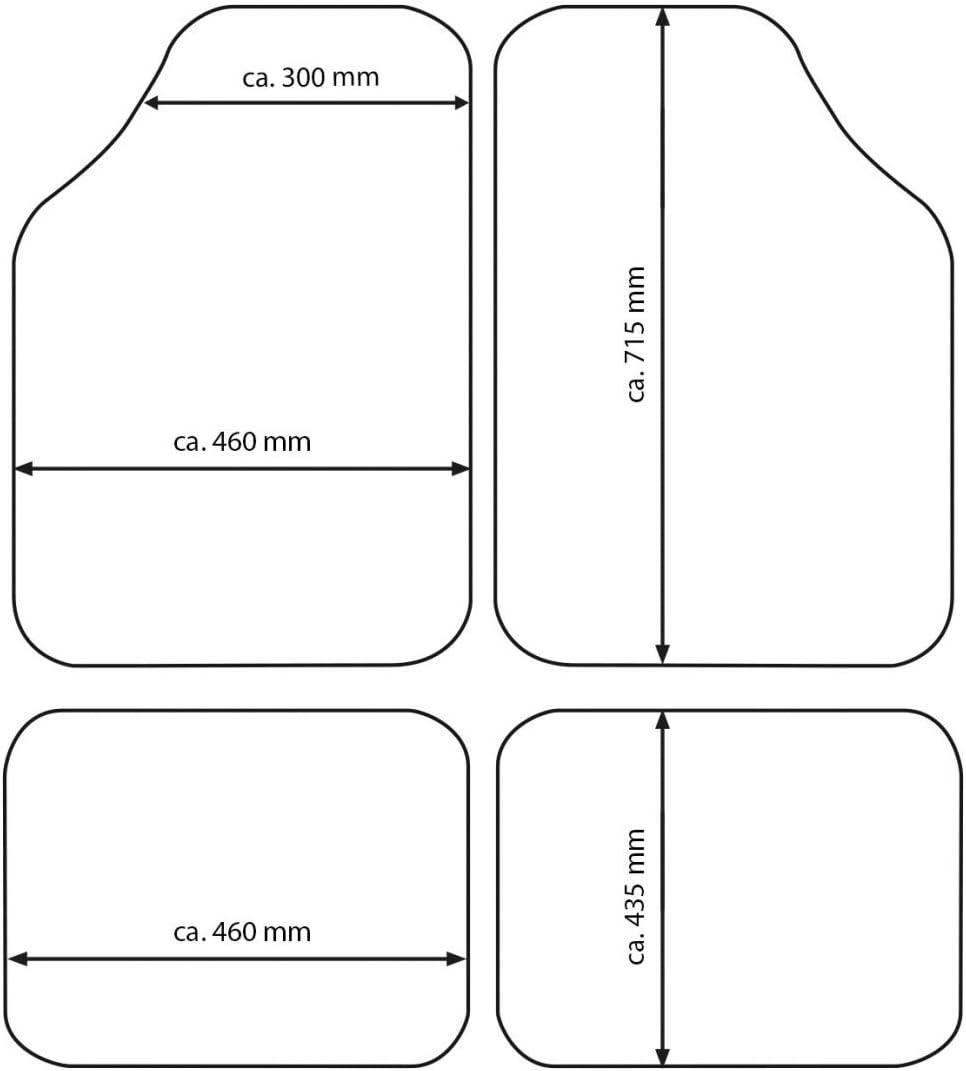 Resistente Set tappeti Auto per 500 in Gomma Antiscivolo inodore lavbile e ritagliabile per Maggiore adattabilit/à