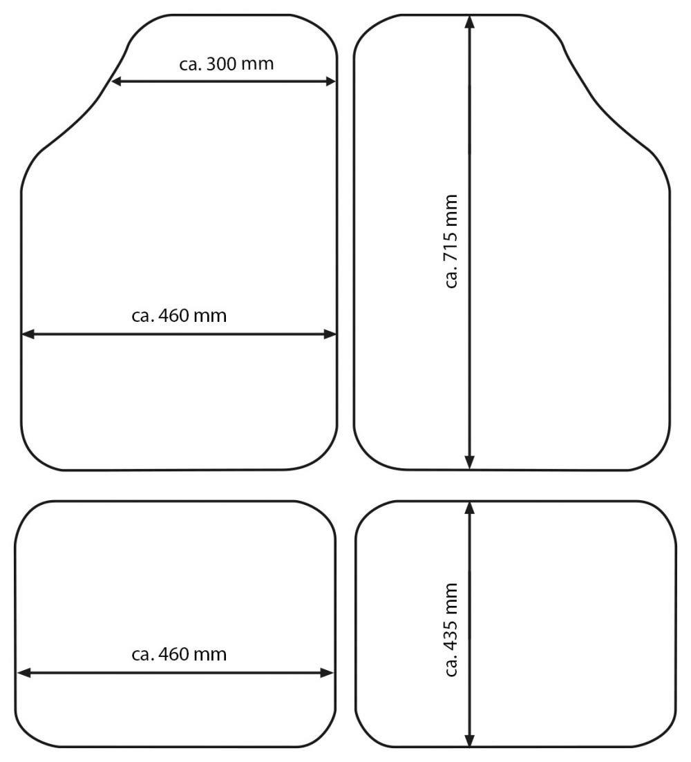 lavbile e ritagliabile per Maggiore adattabilit/à Set tappeti Auto per SANDERO in Gomma Antiscivolo inodore Resistente