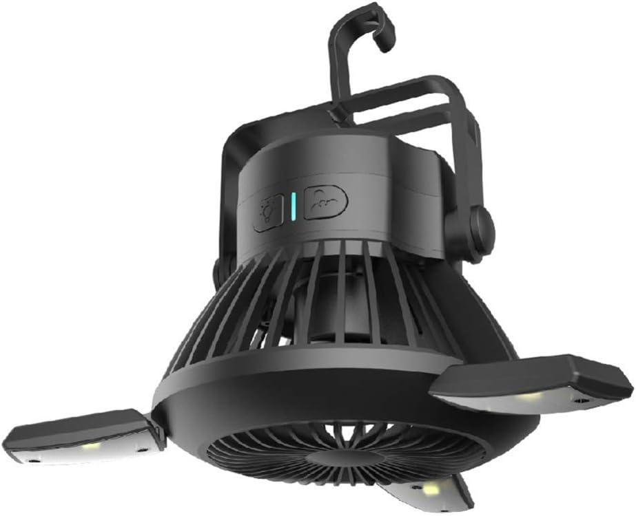FACAI Aire Acondicionado para Camper Ventiladores De Techo Faro Ventilador USB Led Lámpara Solar para Acampar Al Aire Libre Lámpara Portátil para Mosquitero,White: Amazon.es: Hogar