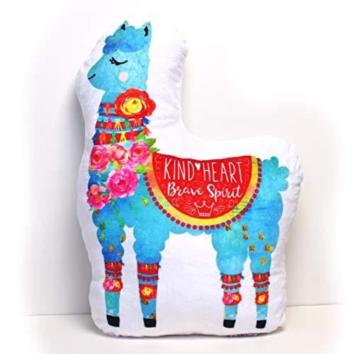 (The BeLOVED Life by Mimi Tin Courage + Kindness Llama Easter Gifts Alpaca Kids Tween Girls Cute Soft Stuffed Decor Plush Cushion Pillow)