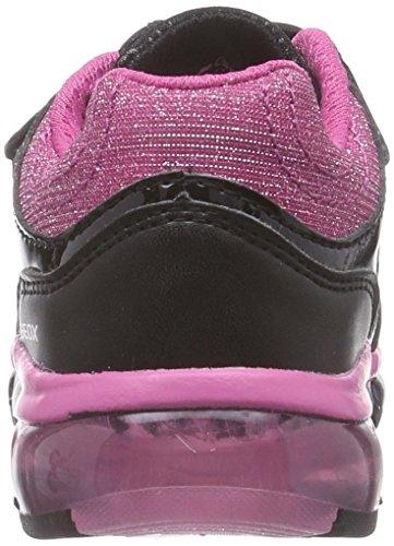 Geox J Android Girl - Zapatillas de deporte para niña Black/Fuchsia