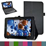 """RCA 10 Viking Pro 10.1 Case,Mama Mouth PU Leather Folio 2-folding Stand Cover with Stylus Holder for 10.1"""" RCA 10 Viking Pro Tablet,Black"""