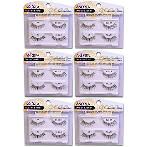 Andrea two of a kind Lashes 53 black (6 pack)