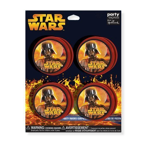 Star Wars Episode III Yo Yo, Set of 4, Glow in the Dark by Party Express
