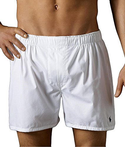 assic Woven Boxer 3-Pack, L, White ()