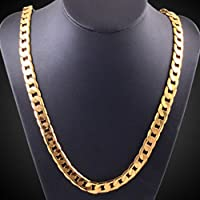 Clearance Deals Hip Hop Pendant Necklace Men Women Fashion Luxury Filled Curb Cuban Link Gold Necklace Jewelry by ZYooh