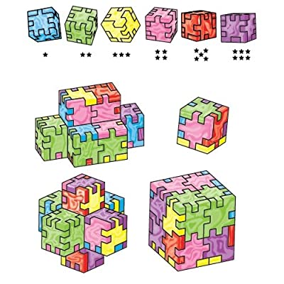Happy, Marble Cube, Set of 6 Foam Puzzle Cubes, Ages 9 to 99: Toys & Games