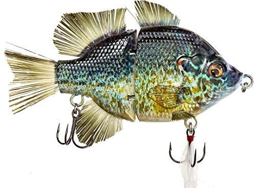 "4.5"" RF Gillman Fishing Lures bass Hard Swim Bait Lifelike Glide Bait Bluegill swimbait (4.5"" Pumkpkinseed Sink)"