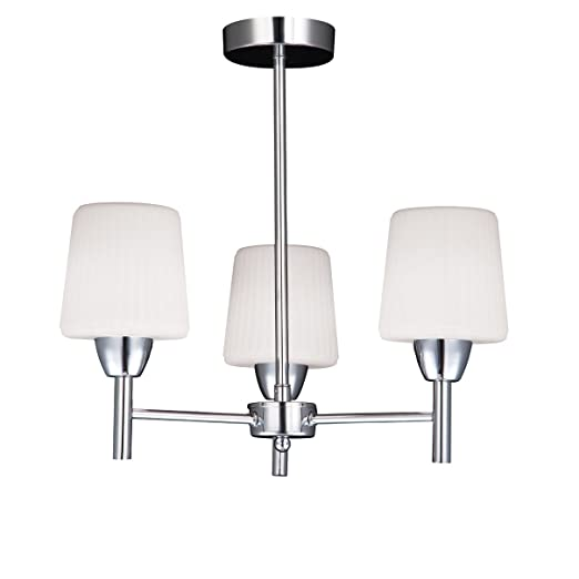 3 way semi flush mounted ip44 rated bathroom ceiling lighting in chrome litecraft