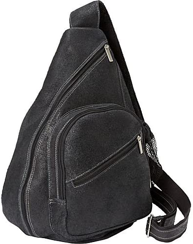 Black Backpack Style Cross Body Bag Distressed One Size David King /& Co