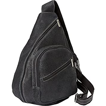 David King Co. Backpack Style Cross Body Bag Distressed, Black, One Size