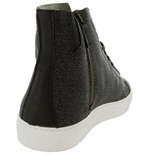 Firma Donald J. Sneaker Uomo Nero Lajos In Pelle Nera