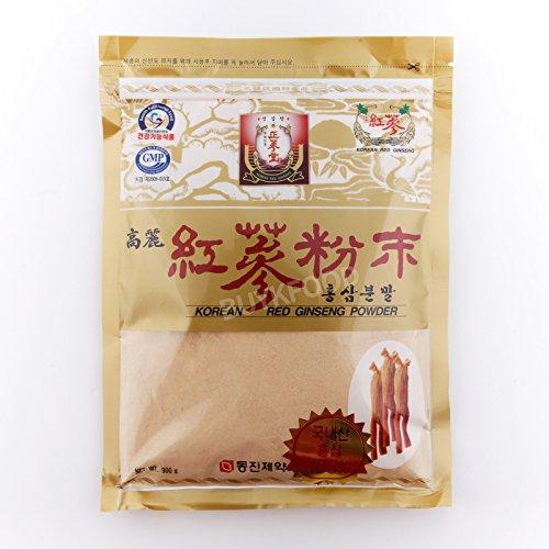100% Korean Red Ginseng Roots Powder 300g(10.6oz), Panax Saponin, No Additives