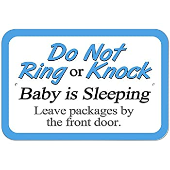 picture relating to Printable Baby Sleeping Sign Front Door known as Graphics and Further Plastic Signal Do Not Ring or Knock Boy or girl Sleeping Depart Courses by means of the Entrance Doorway - 6\