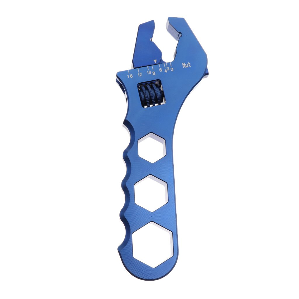 Baoblaze Car Oil Filter Wrench AN3 to AN16 Release Tool AN Fitting Spanner Adjustable - Blue by Baoblaze (Image #4)