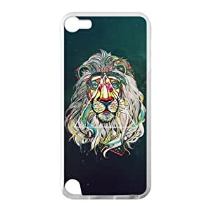 Canting_Good Lion Space Custom Case Cover Shell for IPod Touch 5 TPU (Laser Technology)