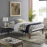 Classic Brands DeCoro Devon Wood Slat and Metal Platform Bed Frame | Mattress Foundation, Queen