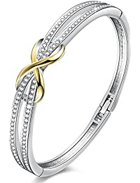 14K Gold Plated Encounter Bangle Bracelet for Women...
