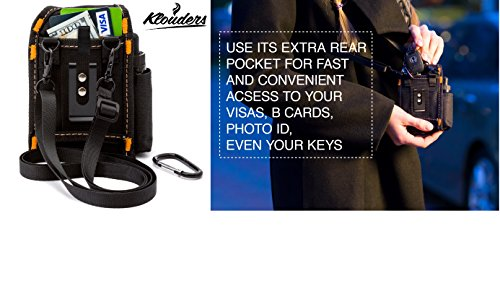 Vape Case Accessories Vapor Pouch for Travel Carrying Bag Holder to Carry Your Vape Box Mods Full Kit with Tank Vaping Supplies Holster Organizer for e Juice Battery Black Klouders [CASE ONLY] by Klouders (Image #4)