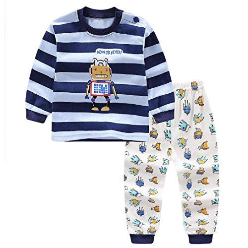 Little Boy Autumn Pajamas Sets,Jchen(TM) New Style! Newborn Infant Baby Little Boys Girls Cartoon Robot Print Tops+Pants Home Wear Sleepwear Outfits for 0-3 Y (Age: 0-6 Months) -