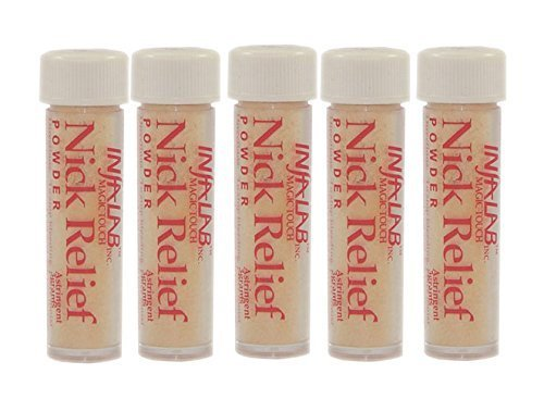 Infalab Nick Relief Styptic Powder, 5 Count by Infalab