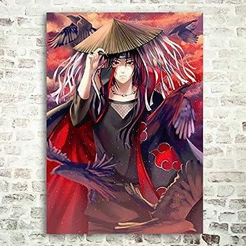 FHGFB 5D DIY「Personajes de Anime-Ninja」Pintura Diamante,Completo Taladro Arte Diamantes Imitación Bordado Pegatinas,Decoración artística con Sentido del diseño. -40x60cm