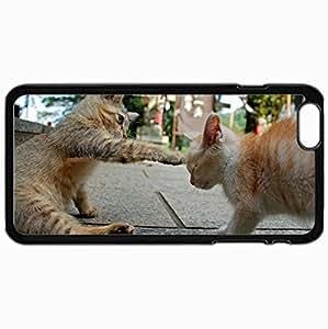 Fashion Unique Design Protective Cellphone Back Cover Case For iPhone 6 Plus Case Cat Black
