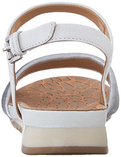Geox D Formosa C, Sandales Femme Blanc (C0007)