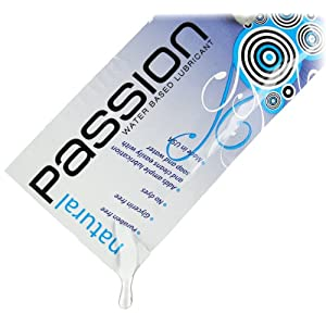 Passion Lubes Passion Natural Water-Based Lubricant (.25-Ounce Single-Use Pouch)