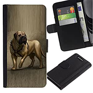 Stuss Case / Funda Carcasa PU de Cuero - English Mastiff Painting Art Dog Canine - Sony Xperia Z3 Compact