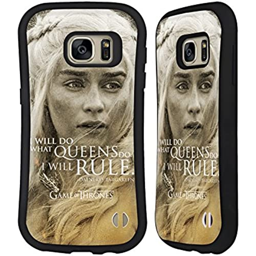 Official HBO Game Of Thrones Daenerys Targaryen Character Portraits Hybrid Case for Samsung Galaxy S7 Sales